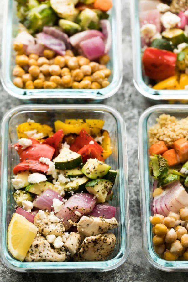 greek chicken wrap recipes in meal prep container