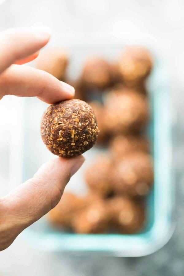 These nut free energy bites can also be made seed-free and coconut-free, perfect for those with allergies, as well as teachers and kids from nut-free schools. Find a great chocolate energy bite base recipe, a chocolate coconut energy bite recipe, and a pumpkin energy bite recipe.
