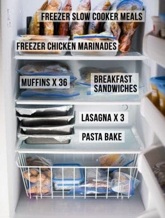 How I've Stocked My Freezer Before Baby