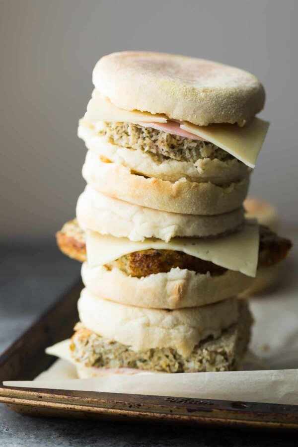 Stock your freezer with these cauliflower herb freezer breakfast sandwiches, and you will have healthy and filling breakfasts ready and waiting for you!