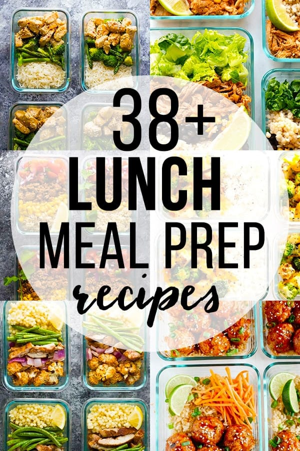 These 38 easy lunch meal prep ideas prove that eating healthy can be delicious and is anything but boring! Meal prep recipes, healthy meal prep, easy meal prep #mealprep #mealprepbowls #lunch #makeahead