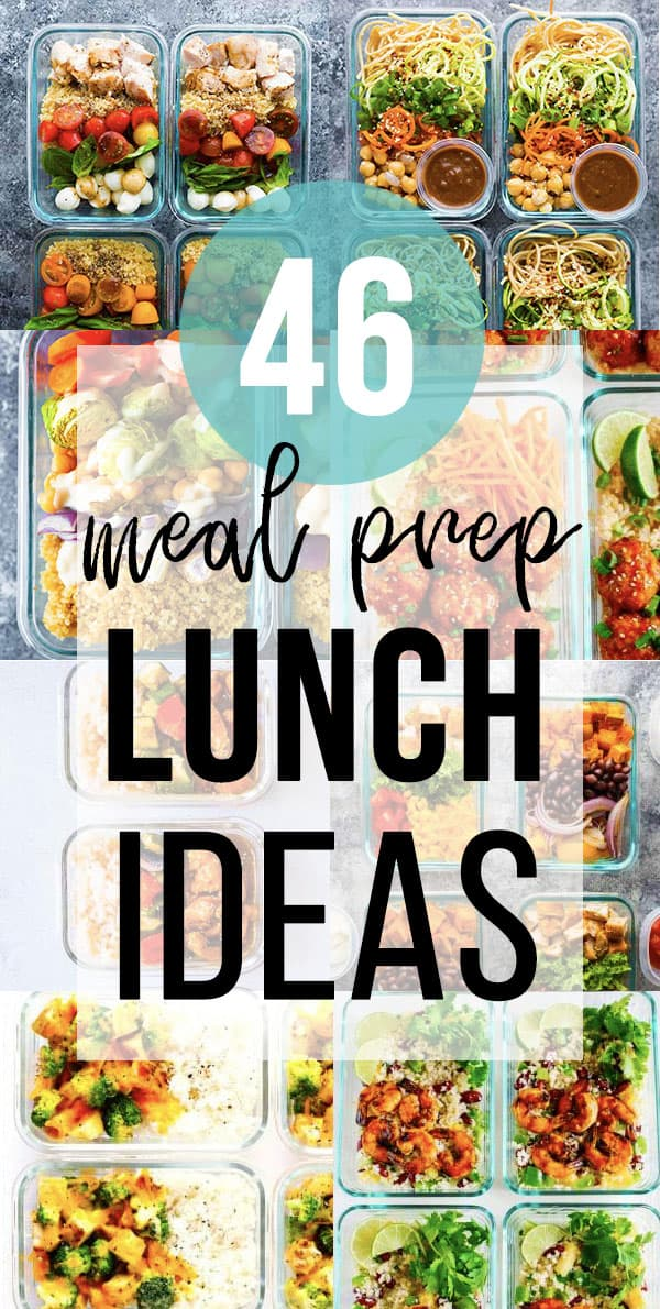 46 Easy Lunch Meal Prep Ideas collage image