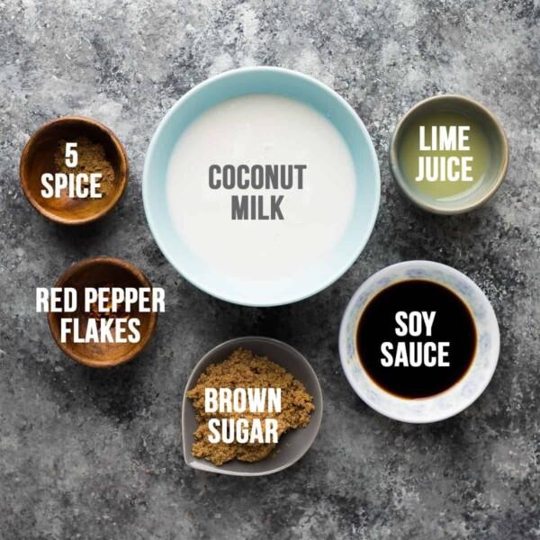 coconut five spice Chicken Marinade ingredients