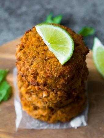 Make Ahead Thai Salmon Patties (Air Fryer or Pan Fried)