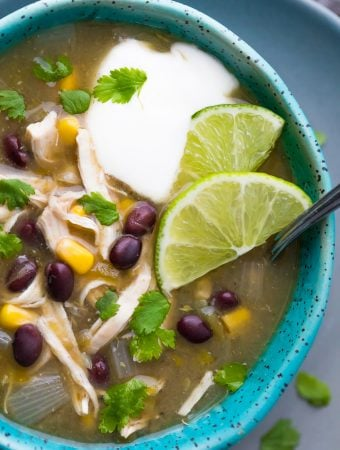 Shortcut Instant Pot Chicken Chile Verde Soup