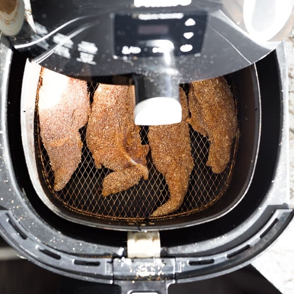 chicken tenders in air fryer before cooking through