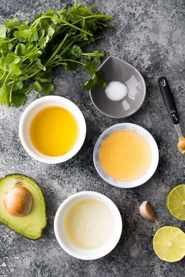 Creamy Cilantro Lime Dressing with Avocado