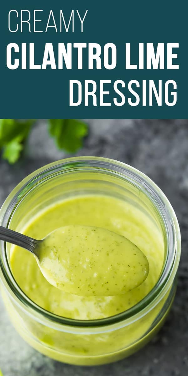 Creamy cilantro lime dressing with avocado is perfect to jazz up your salad and is easily made vegan. Healthy cilantro lime dressing, cilantro lime vinaigrette #sweetpeasandsaffron #salad #avocado #dressing #vegan