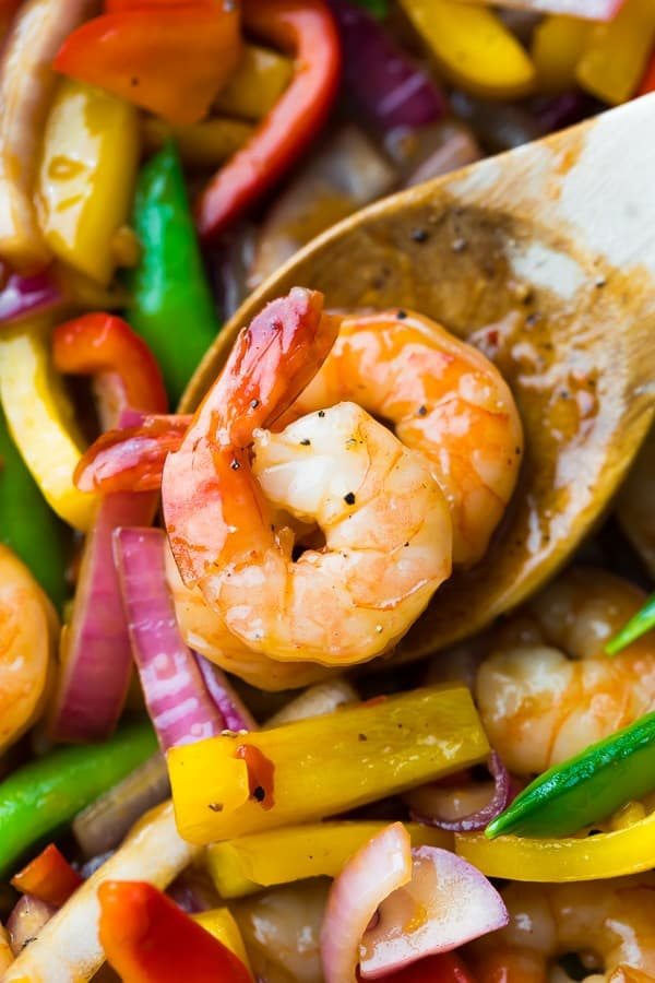 Easy Sweet Chili Shrimp Stir Fry