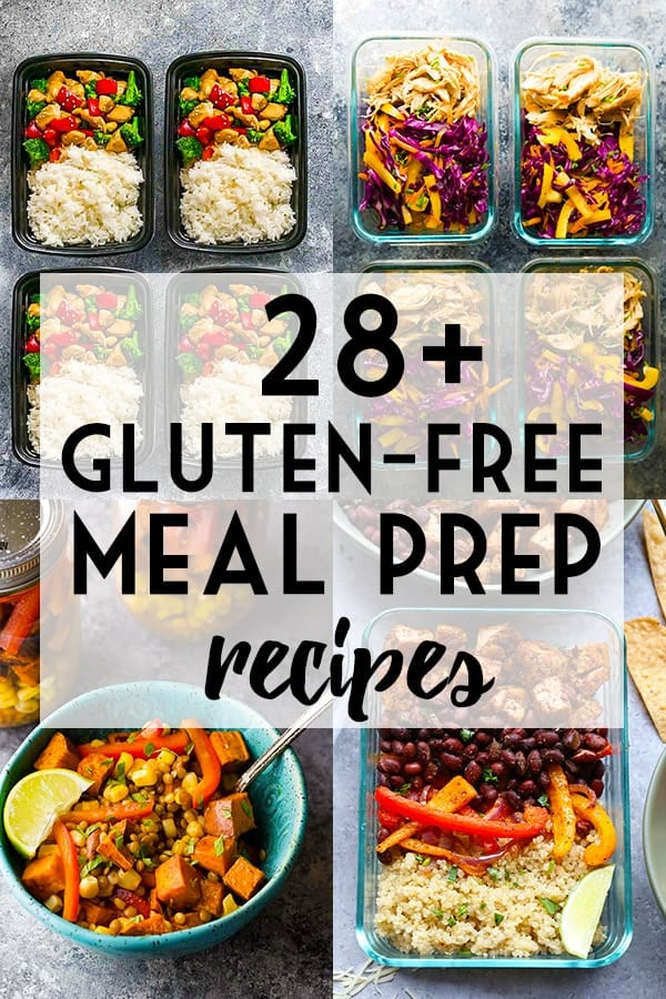 More than 28 gluten-free meal prep recipes collage image