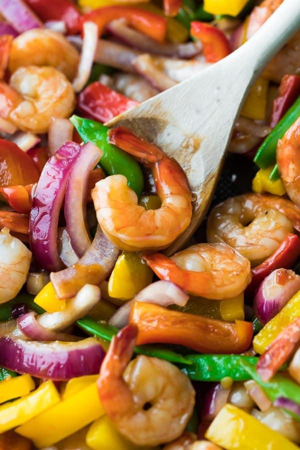 Easy Sweet Chili Shrimp Stir Fry Sweet Peas And Saffron
