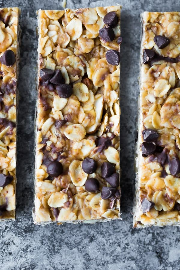 close up of the chewy granola bars