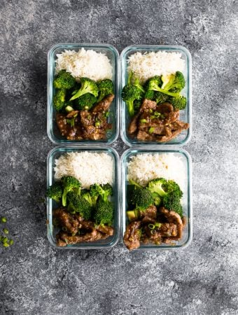Lighter Mongolian Beef Meal Prep