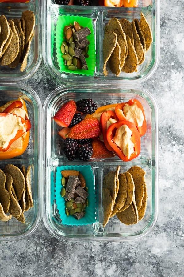 No Cook Vegan Bento Snack Box recipe
