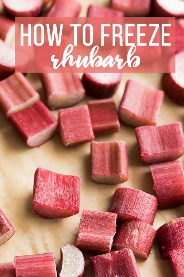 How To Freeze Rhubarb Photo Tutorial