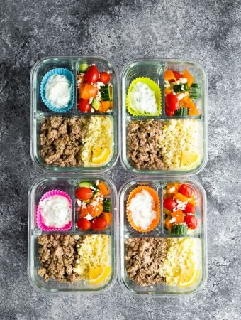 Low Carb Greek Turkey Meal Prep