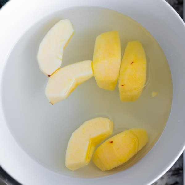 water bath for freezing apples