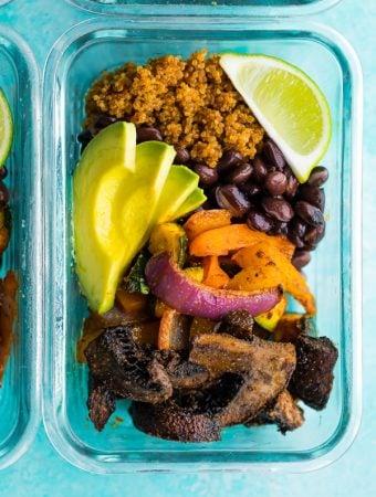 Portobello Fajita Vegan Meal Prep