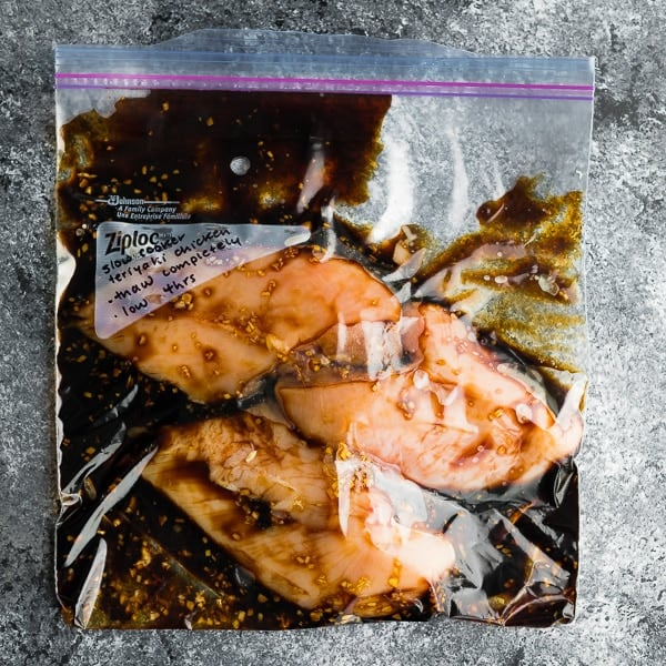 slow cooker chicken breast recipes; slow cooker teriyaki chicken in bag