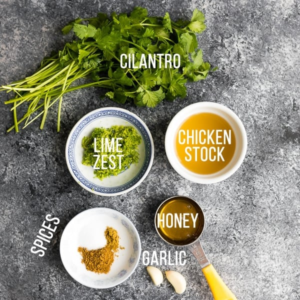 ingredients for slow cooker chicken recipes; slow cooker cilantro lime chicken