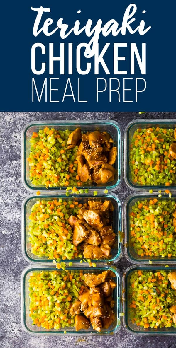Broccoli rice teriyaki chicken meal prep is a lower-carb and grain-free option that is ready in under 30 minutes! Perfect for lunches on the go or easy dinners. #sponsored #sweetpeasandsaffron #veggierice #lowcarb #mealprep #broccoli #chicken #teriyaki #freezer #glutenfree #cleaneating #onepot