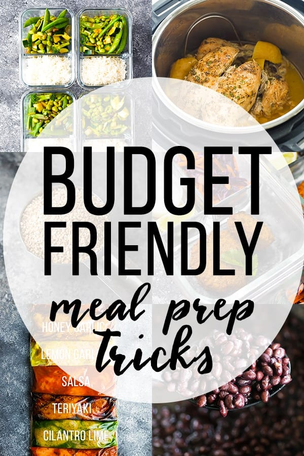 Budget Friendly Meal Prep Tricks collage image