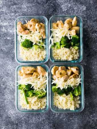Low Carb Cheesy Chicken and Rice Meal Prep