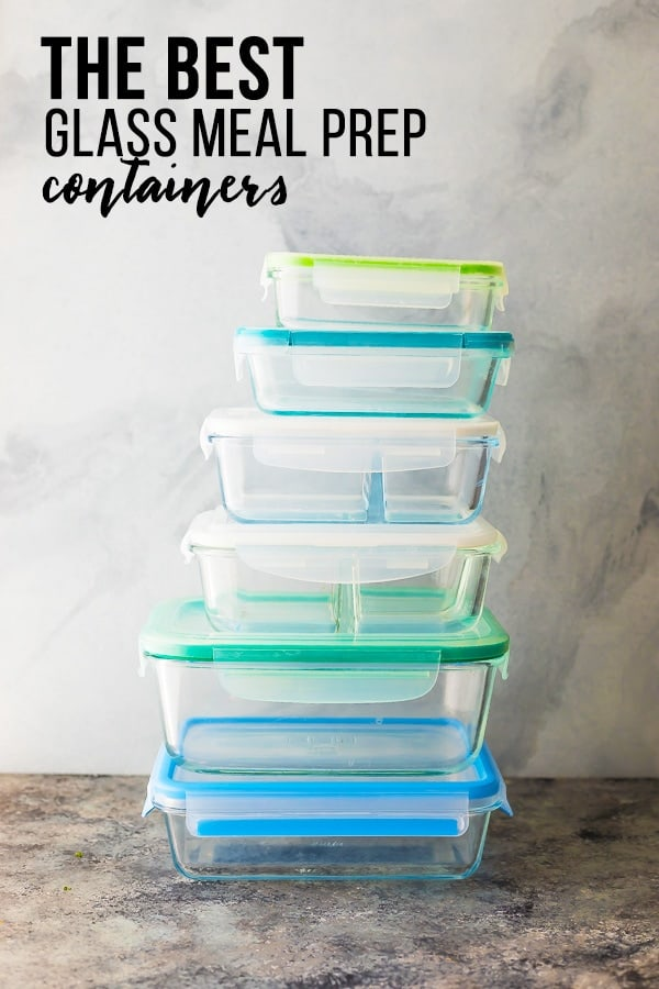 The 5 best glass meal prep containers- stack of glass meal prep containers