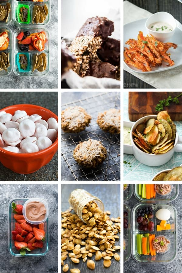 36 Healthy Snacks collage image