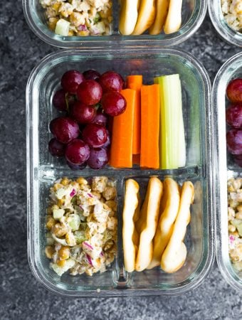 Chickpea Salad Bento Box (Vegan)