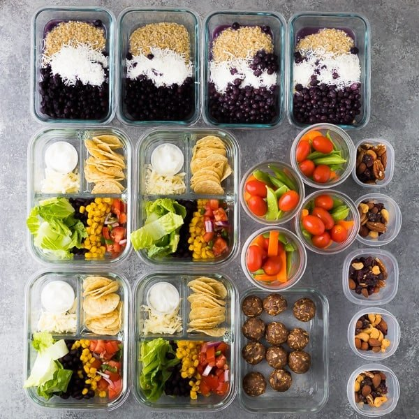 example of a typical weekly meal prep