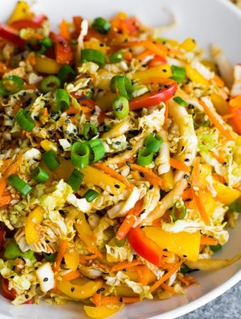 Asian Slaw Recipe with Sesame Dressing