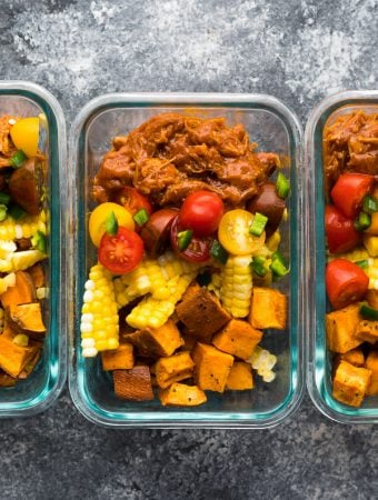 Spicy Pulled Pork Meal Prep Bowls