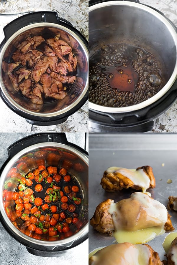step by step photos of this instant pot chicken thigh recipe