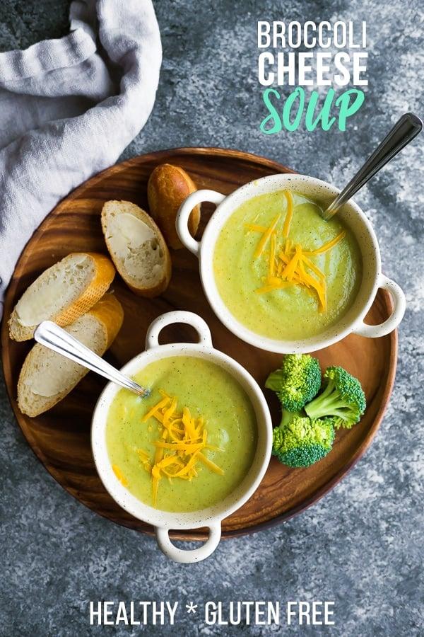 Lightened Up Broccoli Cheese Soup Sweet Peas Saffron