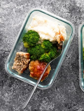 Low Carb Meatloaf & Cauliflower Mash