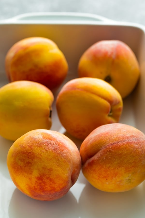 peaches for the healthy baked oatmeal recipe