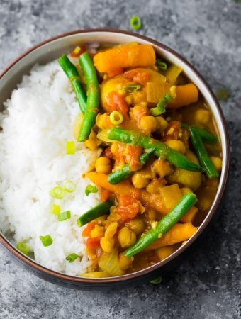 Instant Pot Chickpea Curry (Freezer; Vegan)