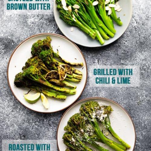 Broccolini 3 Ways 15 Minutes Sweet Peas Saffron