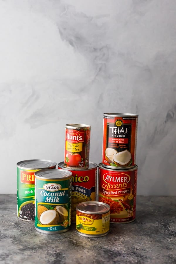 canned goods for pantry staples