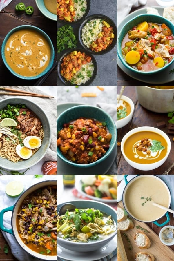 collage image with 9 best soup recipes
