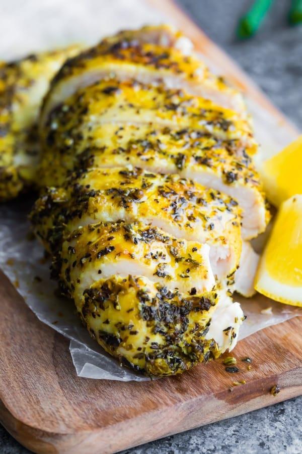Baked Lemon Pepper Chicken Sweet Peas And Saffron