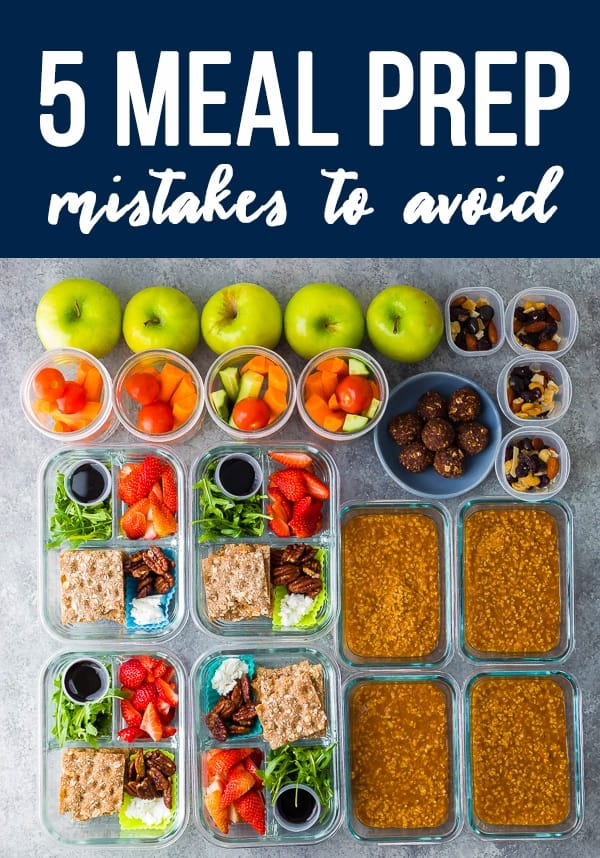 5 Meal Prep Mistakes To Avoid meal prep containers lined up