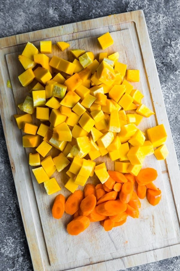 ingredients for butternut squash soup recipe