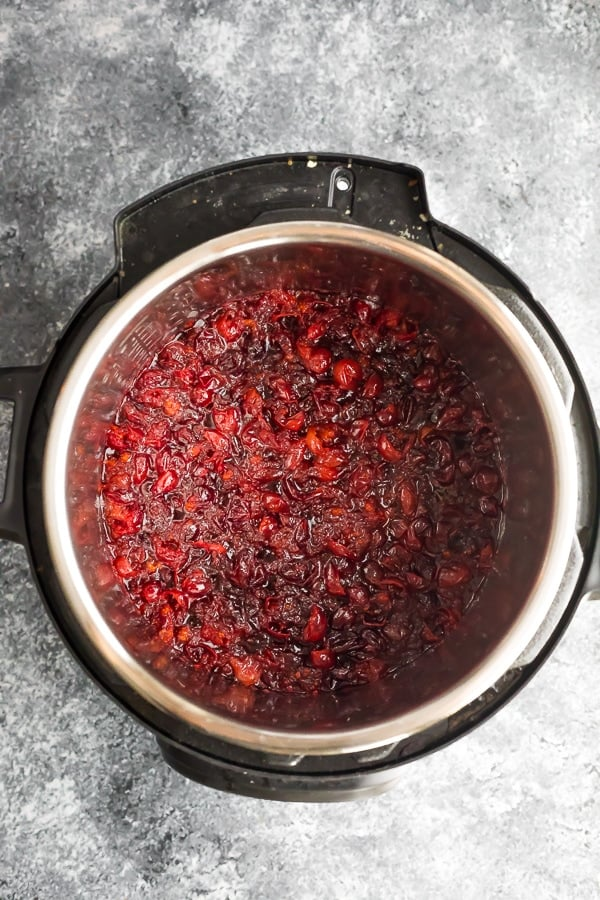 instant pot cranberry sauce after cooking