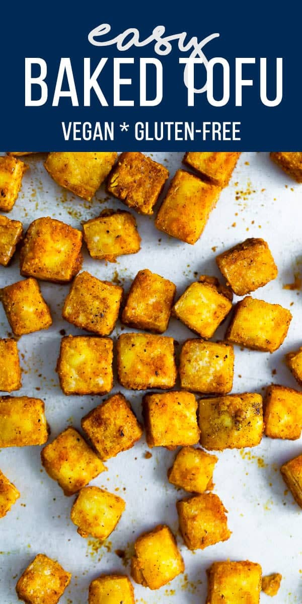 This simple baked tofu recipe is delicious as a snack or entree, and is so easy to prepare! Vegan & gluten-free. #sweetpeasandsaffron #tofu #vegan #glutenfree