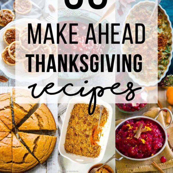 collage image of make ahead thanksgiving recipes