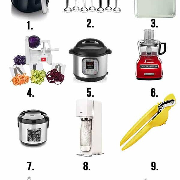 photo of 9 different kitchen items
