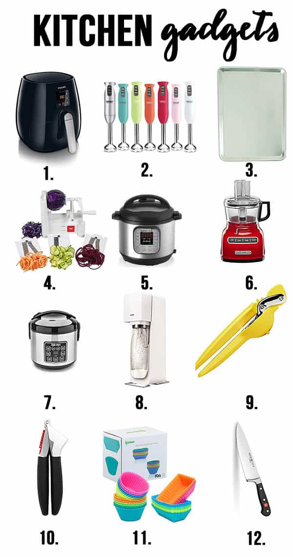 variety of 12 different kitchen gadgets