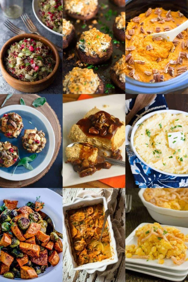 collage image of 9 of the make ahead thanksgiving recipes